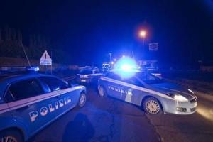 La polizia di stato in Via Casilina dove un'autovettura è uscita di strada causando due le vittime il 7 febbraio 2013 a Roma ANSA/MASSIMO PERCOSSI