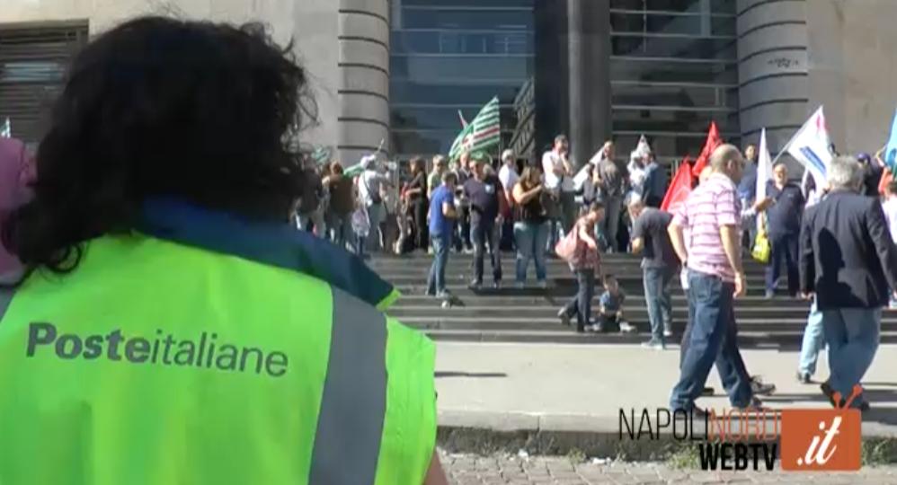 CONTRATTI DI POSTE ITALIANE FERMI DA SEI ANNI, PROTESTA A PIAZZA MATTEOTTI. CARACCIOLO (CISL-FP): SUBITO IL TEMPO PIENO. GUARDA IL VIDEO
