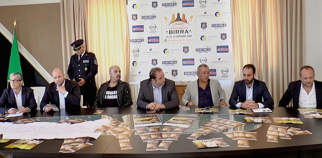 """Giugliano, 'Festa della Birra': presentato l'evento della Coigiass. Dj Aniceto: """"Bere responsabilmente"""". Video"""