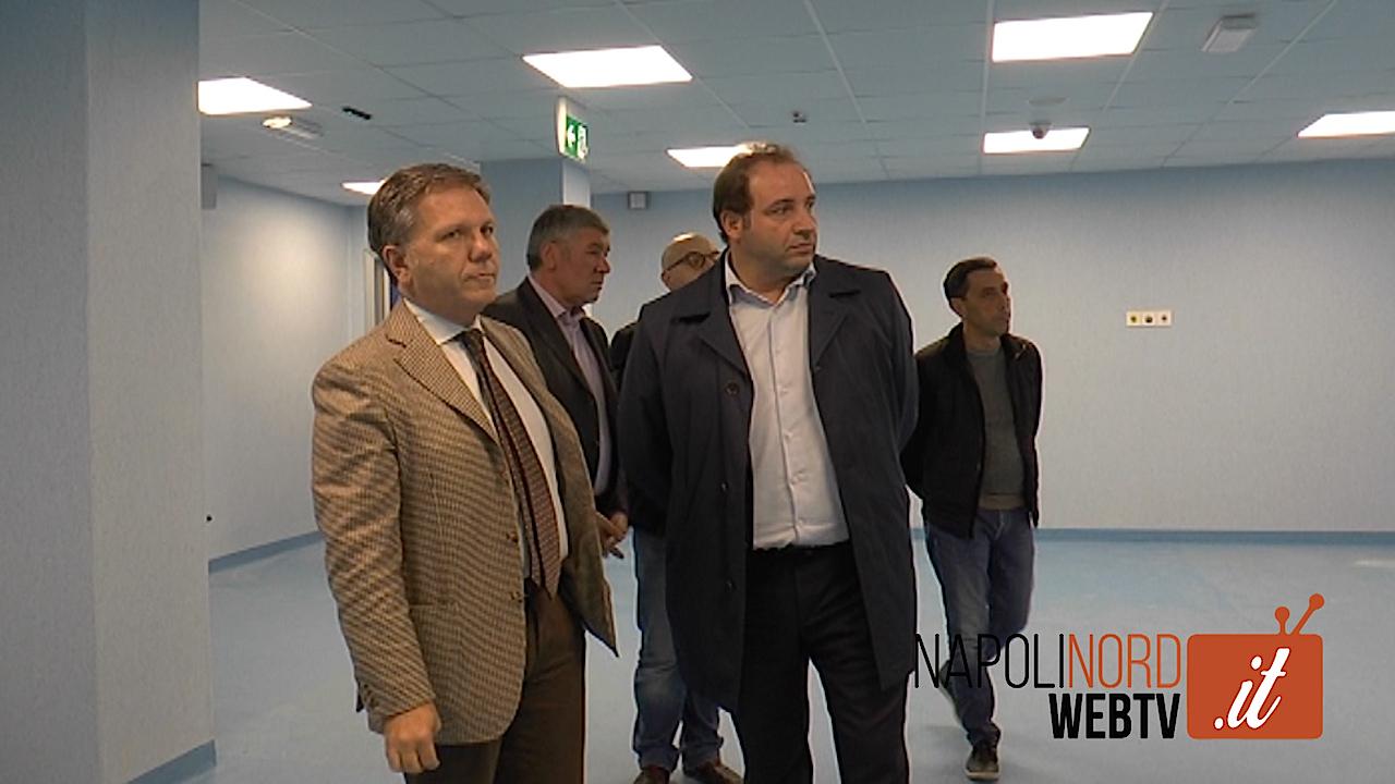 Pronto Soccorso dell'ospedale San Giuliano di Giugliano, a fine mese l'apertura. Sopralluogo del sindaco Poziello e del direttore D'Amore. Video