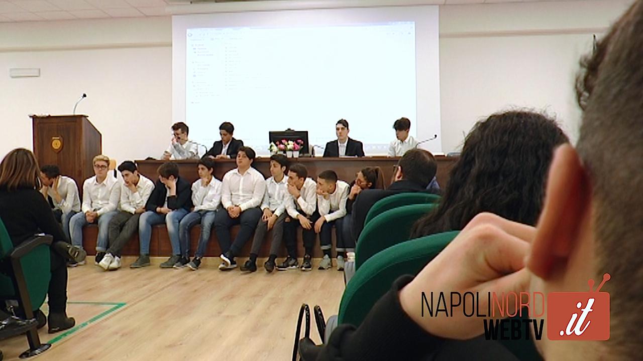 All'istituto Galvani di Giugliano si discute di ambiente con politici e Asl. Video