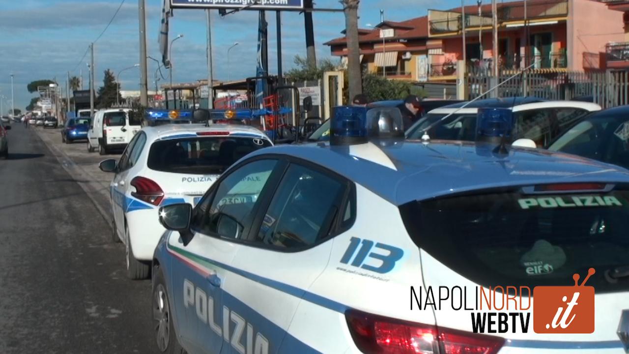Emergenza criminalità a Giugliano, controlli di polizia e Municipale: posti di blocco e setacciate le concessionarie di auto. Video