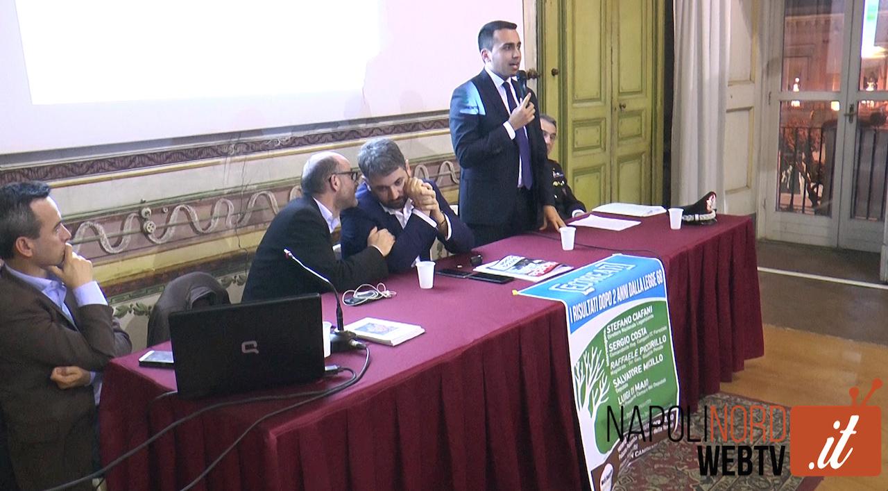 Ecoreati, il vicepresidente Di Maio a Giugliano: presentati i dati a due anni dall'approvazione della legge. Video