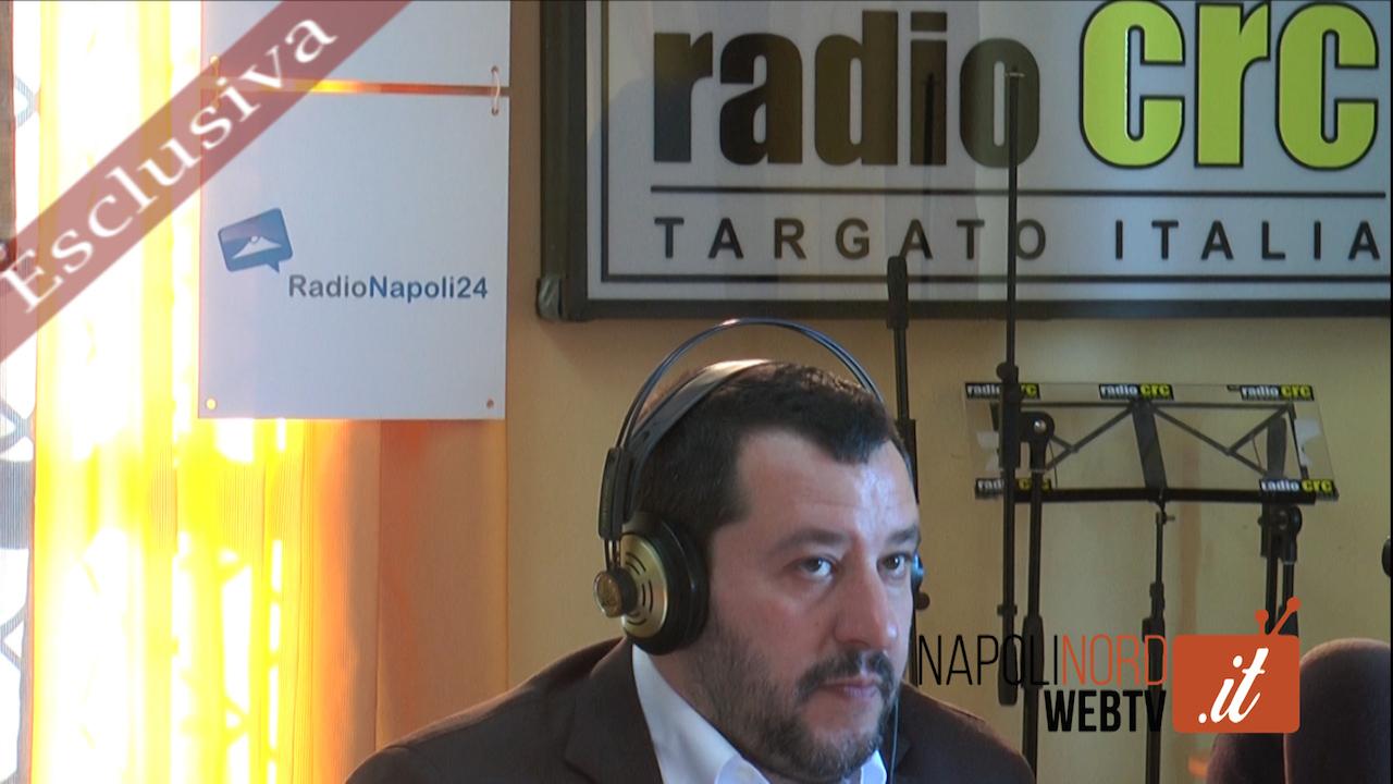 """+++ ESCLUSIVA +++ Il leader della Lega Nord Matteo Salvini a Napoli: """"Voglio conoscere meglio i napoletani"""". Video"""