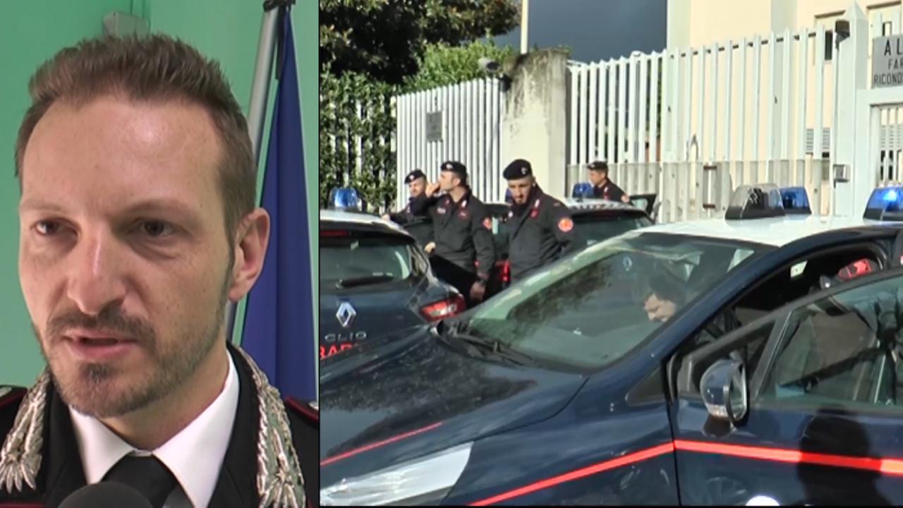 """Il capitano dei carabinieri di Giugliano De Lise: """"Le rapine per acquistare abbigliamento alla moda"""". Video"""