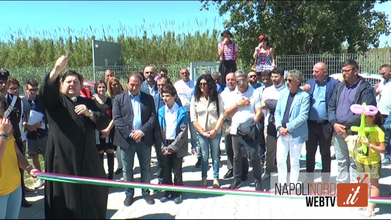 Giugliano, inaugurata l'isola ecologica sulla Domiziana tra Varcaturo e Lago Patria. Video