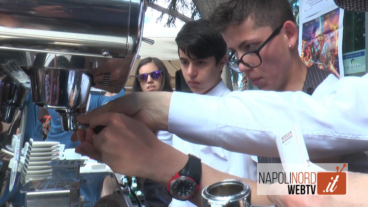 Allo Chalet del Centro di Giugliano i caffè 'speciali' dei ragazzi della Coop 'Mondo in cammino'. Video