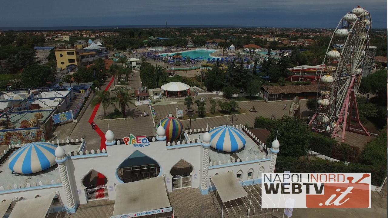 Giugliano, riapre l'ex Magic World ribattezzato Pareo Park a Licola. Le immagini del parco acquatico dal drone. Video