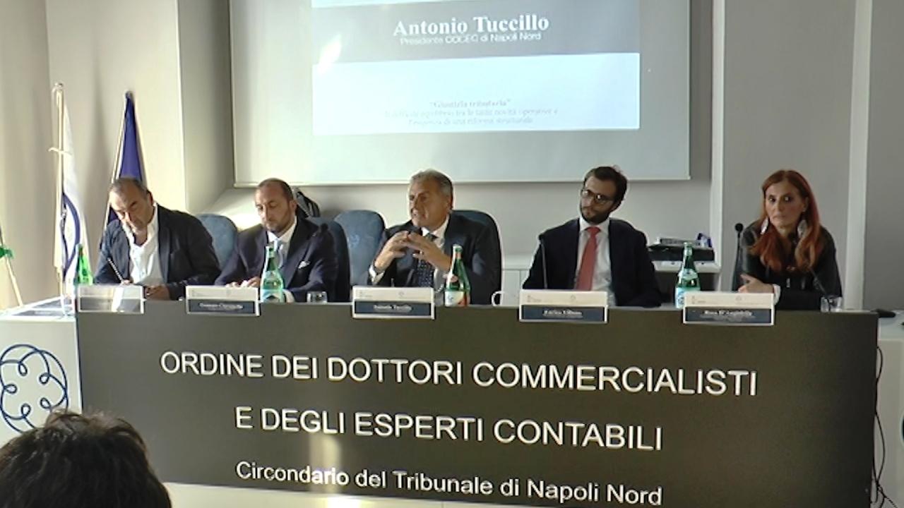 Giustizia tributaria e riforma strutturale, commercialisti ed esperti a confronto all'Odcec Napoli Nord. Video