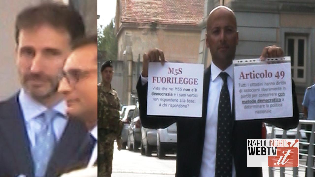 Querela ad Angelo Ferrillo dal Movimento 5 Stelle, in aula il figlio di Casaleggio e l'onorevole Di Battista. Video