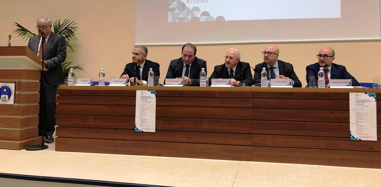 Infrastrutture per rilanciare l'area a nord di Napoli, il sottosegretario Cesaro e il governatore De Luca a Giugliano. Video