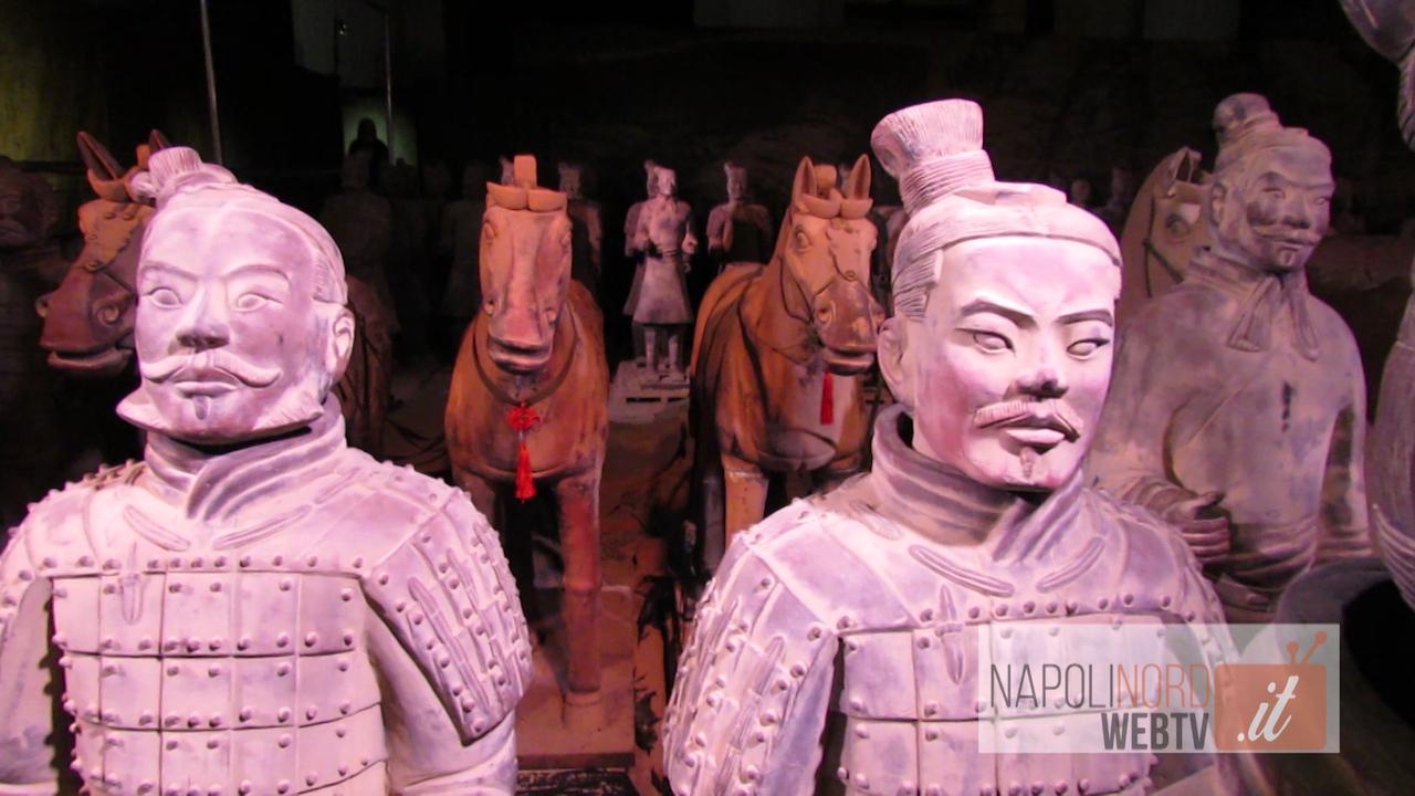 Guerrieri di Terracotta della Cina in mostra nella Basilica dello Spirito Santo di Napoli. Video