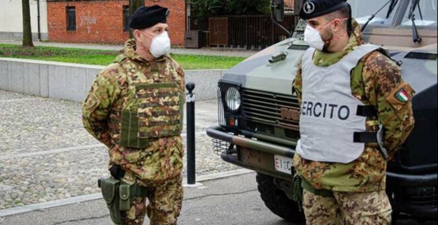 Coronavirus, in arrivo 100 militari dell'Esercito per i controlli