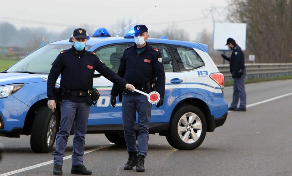Controlli della polizia sull'asse mediano