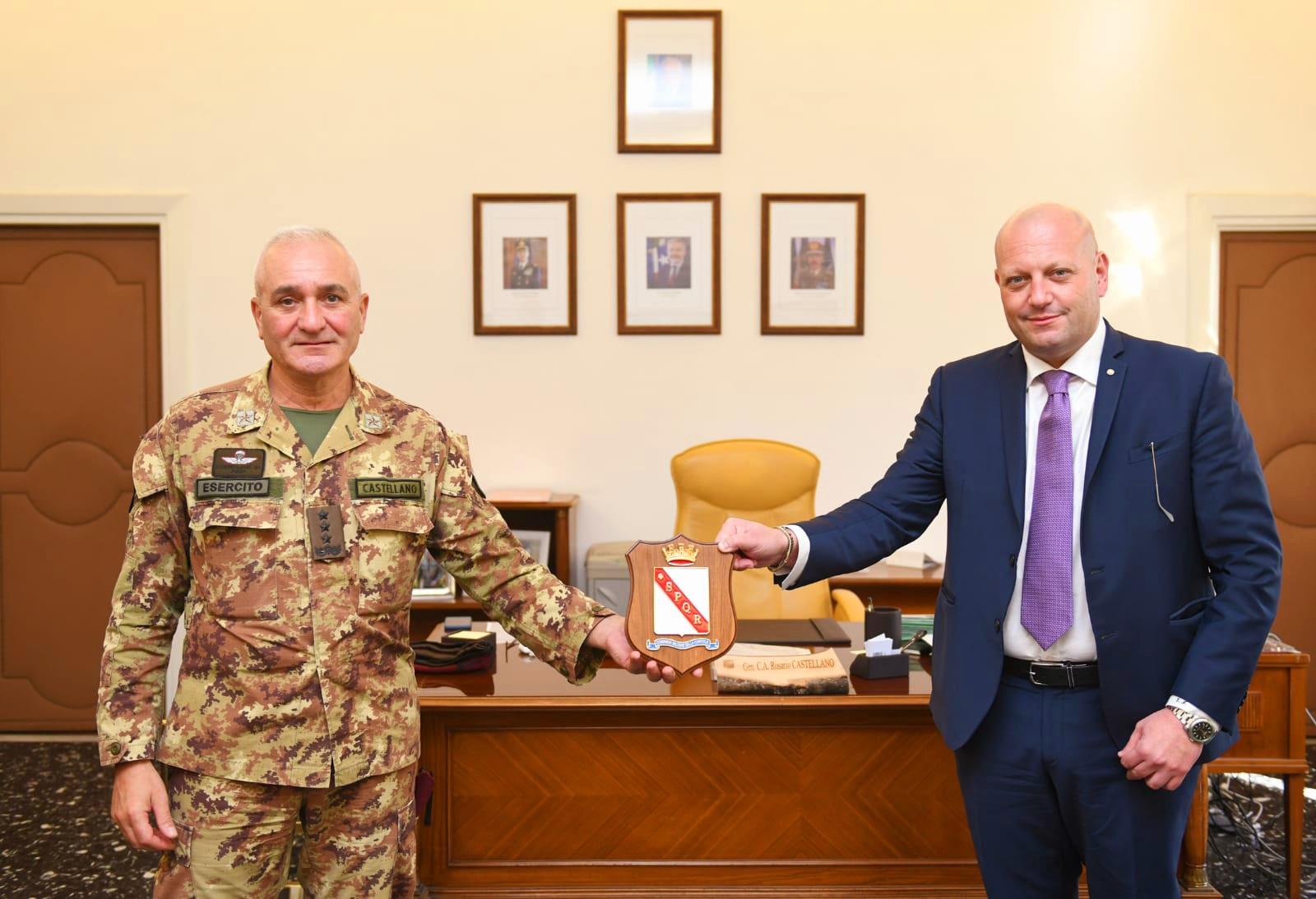 Progetto 'Sbocchi occupazionali', incontro a Roma tra il presidente della Union Security Iovinella e il generale Castellano