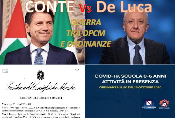 Conte contro De Luca, Dpcm o Ordinanza Regionale: chi la spunterà? Il Governo prevale sulle Regioni, domani le scuole potrebbero riaprire