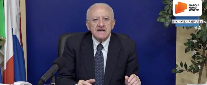 """Emergenza covid, il presidente De Luca: """"Zone rosse a Napoli e in provincia"""". """"Il governo? Meglio scioglierlo"""""""
