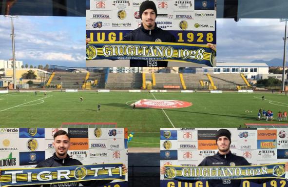 Serie D, tre colpi di mercato del Giugliano: presi l'attaccante ex Napoli Negro e i difensori Marotta e Mambella