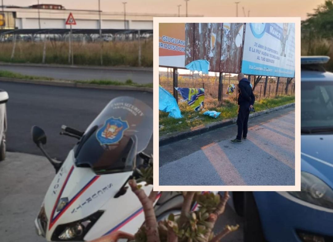 Tenta di rubare cavi di rame dai cartelloni pubblicitari, uomo fermato dalla Union Security